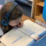 School age Ava - virtual schooling -