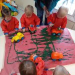 Yellow - group painting with cars