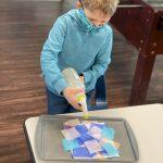 School age - Jack - Tissue paper art